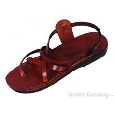 43fca03ae6b0b8 Thin Strapped Crisscross Ankle Biblical Sandals - Galilee Jesus Sandals