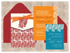 Hey, I found this really awesome Etsy listing at https://www.etsy.com/listing/168865798/indian-wedding-invitation-burgundy-red
