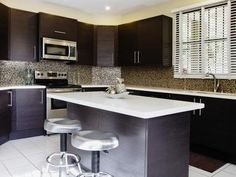 Brown and White Contemporary Kitchen in Beautiful, Efficient Kitchen Design and Layout Ideas from HGTV