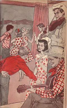 (12) Illustration by Paul Frame is from the 1965 Whitman Deluxe edition of Trixie Belden and the Mystery in Arizona.