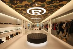 Bape store-shanghai for the Billionaire Boys Club Clothing Store Interior, Clothing Store Design, Showroom Interior Design, Retail Interior, Bape Store, Shoe Store Design, Luxury Lifestyle Fashion, Lifestyle Trends, Home Design Magazines