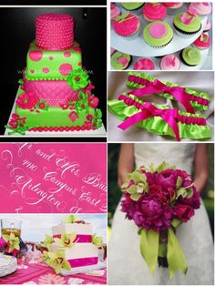 10 Best Cake Images Hot Pink Weddings Wedding Ideas Lime Green