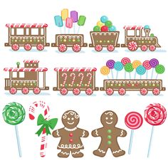 <p> SVG cutting file from digiplayground.com This is the entire gingerbread train and candy set. You get every piece in the set for one low price.</p>