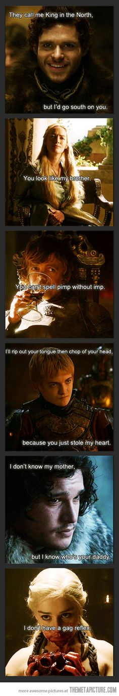 Game of Thrones classy pick up lines…