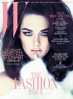 I don't usually like Kristen Stewart, but this makeup is FIERCE.