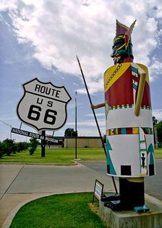 National Route 66 Museum with largest highway shields - Elk City, Oklahoma.