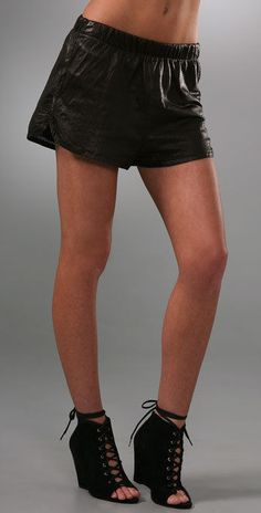 0cf04c35d3 A.L.C. Perforated Leather Micro Shorts in Black Size XS Retail $295 #ALC # Leather Short
