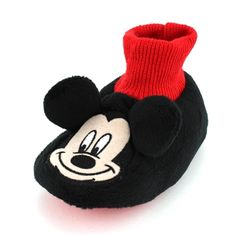 These adorable Disney Mickey Mouse Clubhouse sock top slippers are the perfect fit for your little mouseketeer! Free shipping! #mickeymouse #mickey #disney #disneymickey #yankeetoybox #ytb