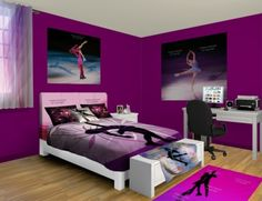 Ice Skating Wall Murals, put on your skates and hop on the ice. Visit our Ice Skating designs at http://www.visionbedding.com/WallMurals/IceSkating.php