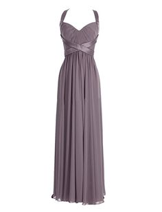 Diyouth Halter Long Bridesmaid Dresses Column Sweetheart Formal Evening Gowns Grey Size 10