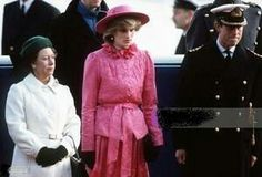 November 16, 1982: Princess Diana at the Welcoming of Queen Beatrix and Prince Claus of the Netherlands...