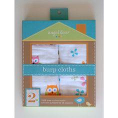 Angel Dear Muslin Burp Cloths 2 Pack