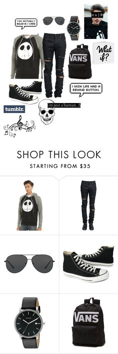 """Untitled #597"" by twisteddreamcatcher on Polyvore featuring Yves Saint Laurent, Michael Kors, Converse, Skagen, Vans, Music Notes, men's fashion and menswear"