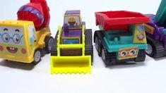 Строительная машина для распаковки игрушек - экскаватор, автобетоносмеси... Benne, Puzzle, Construction, Make It Yourself, Children, Music, Mixer Truck, Toy Hauler, Childhood Toys
