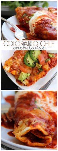 Colorado Chile Enchiladas - easy & simple meal, ready in less than 45 minutes. #showmetheshine #ad