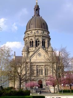 MAINZ (GERMANY): The location, the mild climate and the political developments in the ancient empire led to the early flourishing of the city. Still today the mild climate let the first flowers early flourish in front of the Christ Church.