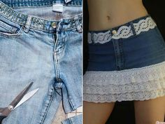 Denim Skirt, Jean Shorts, Mini Skirts, Outfits, Sewing, Diy, Women, Fashion, Vestidos