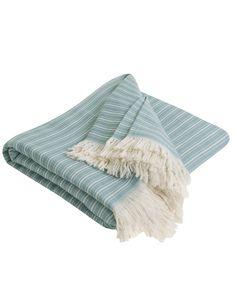 Coastal Stripe, Green Bedspread