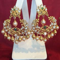 Tips for Buy Sell Jewelry & Diamonds.How to Buy sell your used jewelry,jewelry and engagement ring online? Gold Jhumka Earrings, Gold Earrings Designs, Gold Jewellery Design, Bridal Earrings, Necklace Designs, Bridal Jewelry, Diamond Jewelry, Gold Jewelry, Jewelery