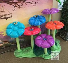 26 ideas for diy garden party decorations dollar stores - # Trolls Birthday Party, Troll Party, Garden Party Decorations, Diy Garden Decor, Garden Ideas, Flower Decorations, Pool Noodle Crafts, Enchanted Forest Book, Plastic Bottle Crafts
