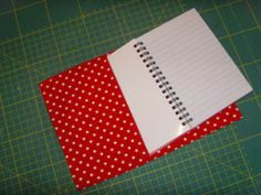 Tutorial for a quick fabric notebook cover