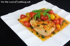 Chicken Breasts with Tomato Herb Pan Sauce For the Love of Cooking, Herbed Tomato Sauce with Chicken and Peppers over Pasta, Parmigiano and. Healthy Cooking, Healthy Eating, Healthy Recipes, Turkey Recipes, Chicken Recipes, Pan Sauce Recipe, Grilled Vegetables, Yum Yum Chicken, How To Cook Chicken