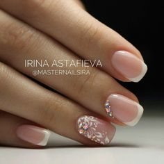 Wedding Nails-A Guide To The Perfect Manicure – NaiLovely Pink Wedding Nails, Wedding Nails Design, Pink Nails, My Nails, French Tip Nail Designs, Best Nail Art Designs, French Tip Nails, Cute Nails, Pretty Nails