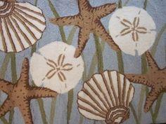 Starfish and Sand Dollar Rug