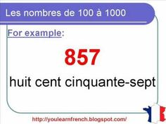 French Lesson 105 - Numbers from 100 to 1000 - Nombres de 100 à 1000 - N...