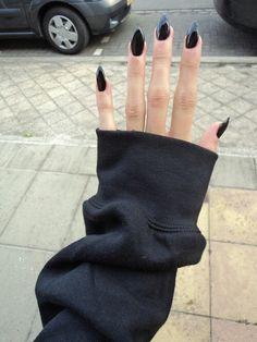 Beautiful stiletto/almond nails