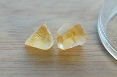 Special Price Sawn material Facet rough VVS-IF Yellow Citrine 7.80 CT 2 pcs Clear Crystal Natural #JV151 by JEWVARY on Etsy