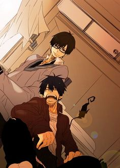 Blue Exorcist (Ao no Exorcist) - Rin Okumura x Yukio Okumura Manga Anime, Art Manga, Fanarts Anime, Anime Characters, Anime Art, Ao No Exorcist, Blue Exorcist Anime, I Love Anime, Awesome Anime