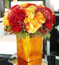 101 best red flower arrangements images on pinterest red flower stunning gold and red flower arrangement mightylinksfo