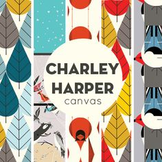 Fabricworm Giveaway! 2 Yards Winner's Choice of Charley Harper Organic Canvas! (not that I want y'all to all go enter...)