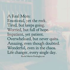 A real mom will keep going no matter what...no matter how tired! Anything for that baby boy always!