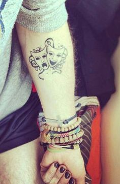 Happy & Sad mask tattoo... Want it!