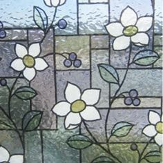 LINEA Fix static window film GLS 4657 flowers blue mx m . LINEA Fix static window film GLS 4657 flowers blue mx m Home Decor Uk, Window Film, Leroy Merlin, Window Design, Flower Decorations, Home And Garden, Windows, Ebay, Entertaining