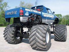 """Blue Dodge Ram """"Monster Truck"""""""