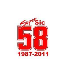 """Marco Simoncelli """"58"""" Super Sic Moto Gp Sticker - Small Sticker Graphic"""