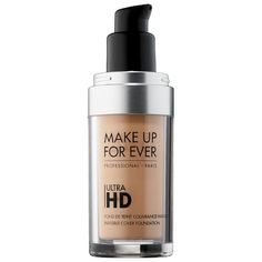 Shop MAKE UP FOR EVER's Ultra HD Invisible Cover Foundation at Sephora. An iconic foundation that provides undetectable medium coverage. Makeup Forever Hd Foundation, Best Foundation, Liquid Foundation, Organic Makeup, Natural Makeup, Hd Make Up, Long Lasting Foundation, Base, Beauty Blender
