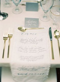 REVEL: Gold Place Setting Inspiration