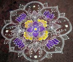 Find images and videos about free hand rangoli, indian rangoli patterns and deepavali rangoli on We Heart It - the app to get lost in what you love. Rangoli Patterns, Rangoli Designs Diwali, Diwali Rangoli, Kolam Designs, Lotus Rangoli, Simple Rangoli, Henna Designs, Zen Doodle, Doodle Art