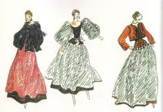1976 - YSL sketch 4  Ballets Russes Collection