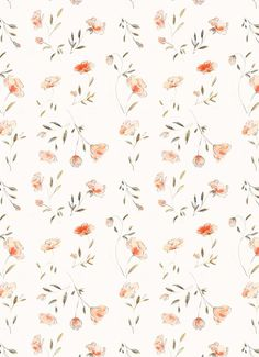 Soft Watercolor Floral Print