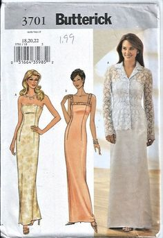 Butterick Sewing Pattern 3701  Size 18 20 22 Misses Petite