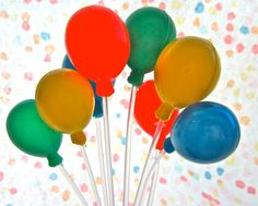 Balloon Cluster Cake Decoration by BonFortune on Etsy, $3.25