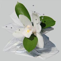 White Wedding Corsage