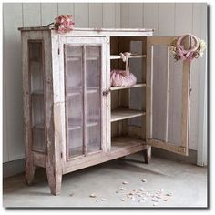 Rachel Ashwell Shabby Chic Couture - Lavender Pie Safe, Rachel Ashwell, White Decorating, Shabby Chic Decorating, Distressed Furniture, Cottage Style, Flea Markets