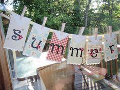 Summertime banner/garland