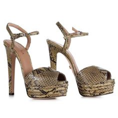 LE SILLA Miranda Sandal In Camouflage Colour In Keith Python H.145 Mm. #lesilla #shoes #sandals